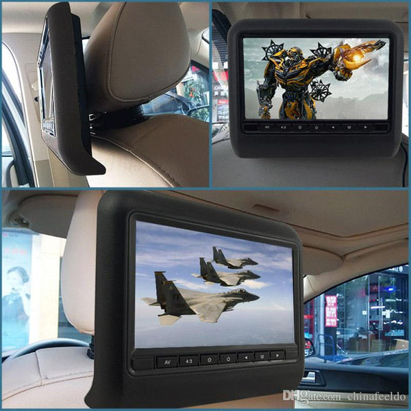 9 Inch Universal Car Headrest Monitors Digital LCD AV HD Monitor With Remote Control 3-Color Optional #3857