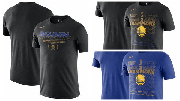 buy popular c3d57 3ab44 2018 Golden State Warriors Finals Champions Locker Room Celebration Mantra  Dfct T Shirt Black Blue From New123wang, $17.39 | Dhgate.Com