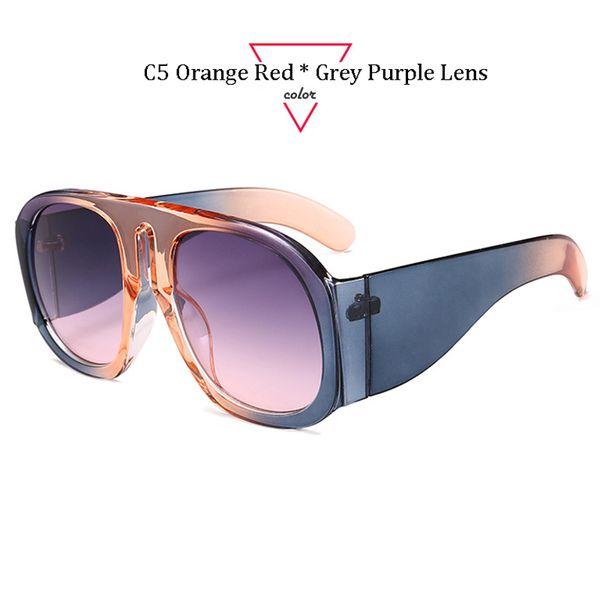 C5 Orange Rouge Cadre Gris Violet Lentille