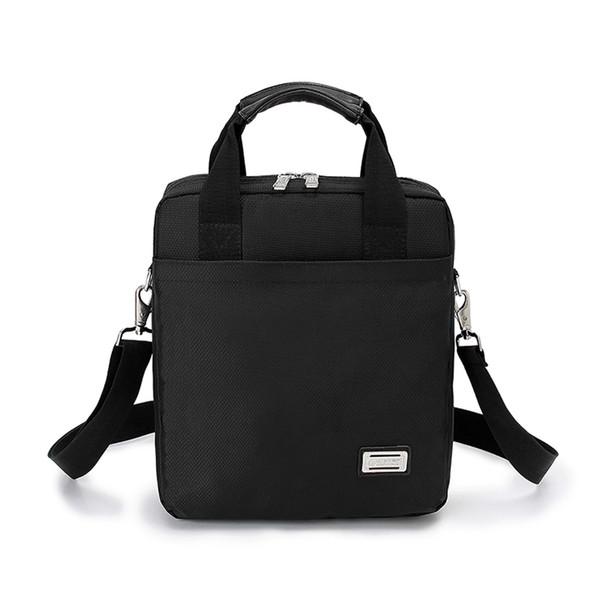 New Männer Aktentasche kommerziellen vertikalen Schultertasche Messenger Bag Mann Handtasche A4 Oxford Stoff schwarz H1580