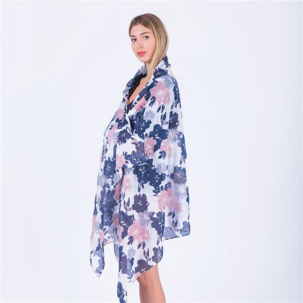 Hot print fresh summer foliage print scarf lady's shawl beach towel