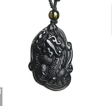 Chengshi Jewelry Natural Obsidian Pendant Crystal Jewelry