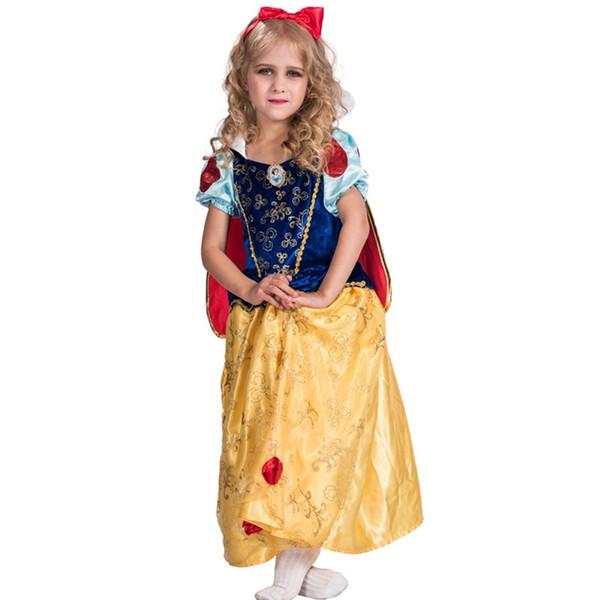 Costume da principessa Snow White Girls Storybook e favola Halloween Carnival Costume Cosplay