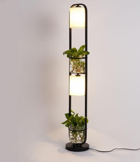New modern art Creative plants plasscloth standing light for office, cafe, restaurant, lamps and lanterns floor lamp