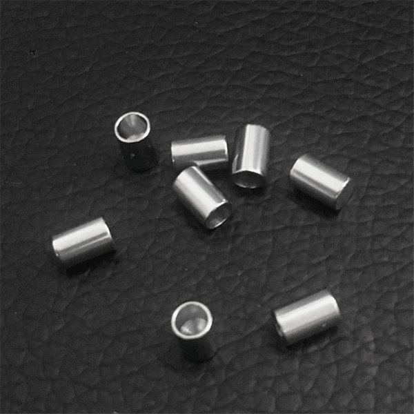 200pcs/lot stainless steel Jewelry DIY Accessories Cord End Crimp caps for leather cord end cap crimp beads cap end beads silver wholesales