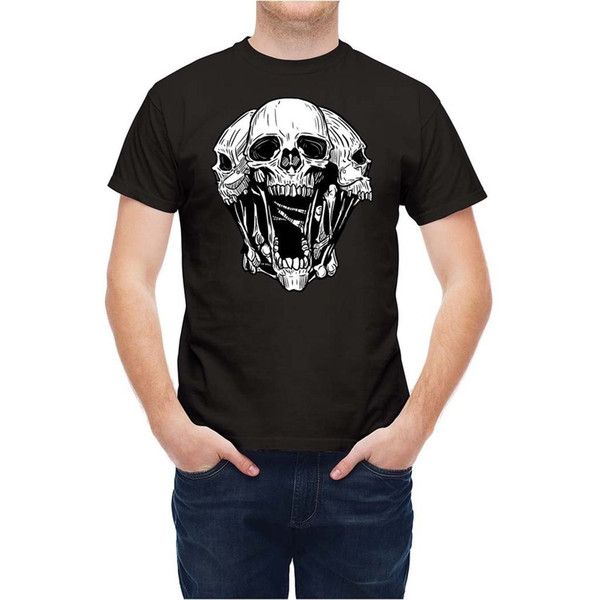 T-shirt Combination Of Skulls T23633 white black grey red trousers tshirt