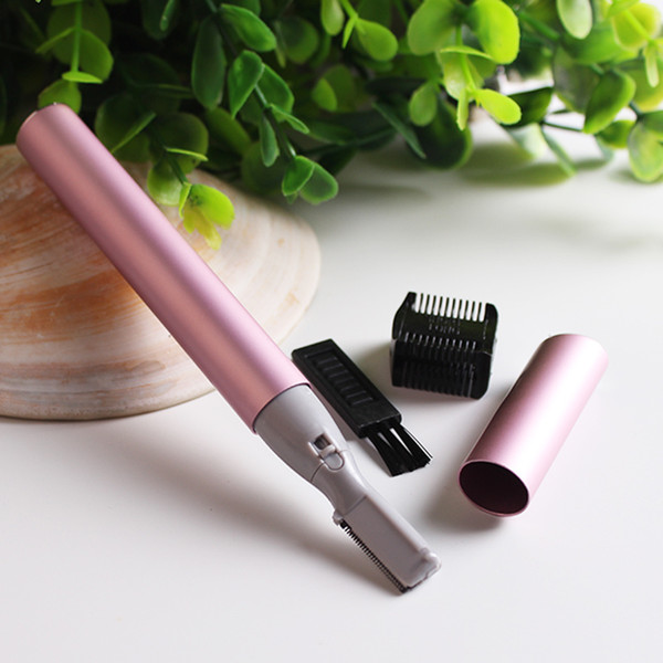 Electric Eyebrow Trimmer With Eyebrow Comb Brush Face Eyebrow Hair Body Mini Portable Blade Razor Easy Carry Body Shaver Remove