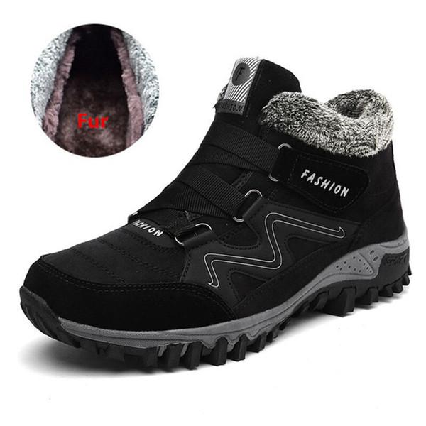 Scarpe da corsa invernali Scarpe da ginnastica traspiranti da uomo in velluto a coste da esterno Antiscivolo Youth Nero grigio antiscivolo Calzature sportive per uomo