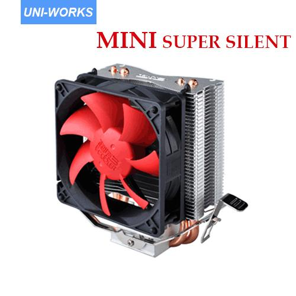 PC Cooler heatpipe cpu cooler super silenzioso 95w ready 80mm Ventola di raffreddamento per zoccolo LGA775 / 1150/1155/1156 / AM2 / AM2 + / AM3 754