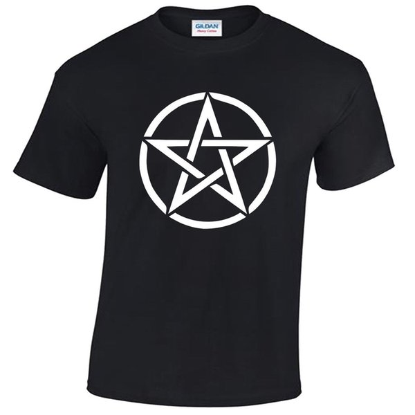 Pentagram T-Shirt Mens S-5XL goth rock punk metal gothic biker satanic white