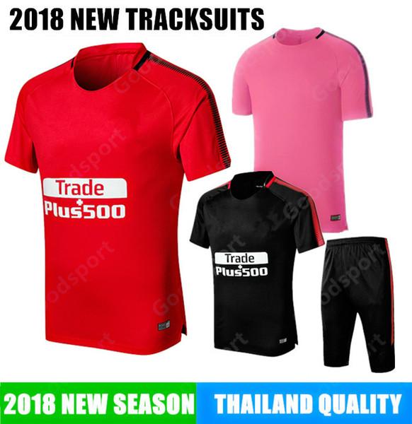 Traje de entrenamiento de Madrid Kits Fútbol Fútbol Kits de entrenamiento Ropa de navidad ESPAÑA Camisas de manga corta pantalones cortos Futebal Calcio