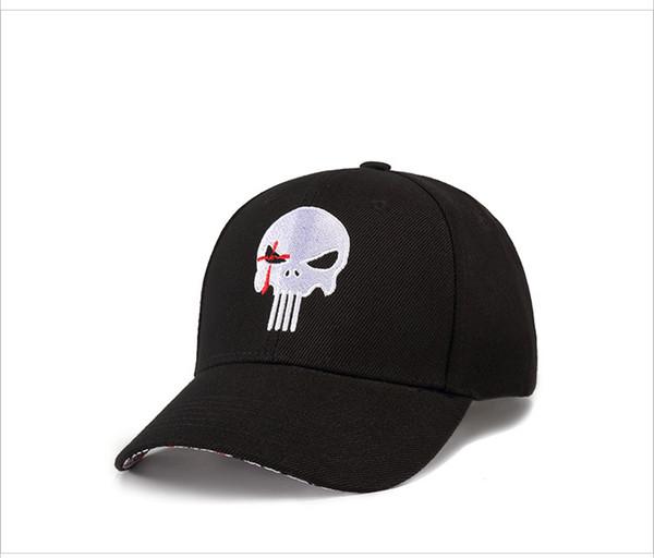 01fc8529f15 2018 Nouvelle Haute Qualité Hero US Punisher Logo Logo Embroidere Casquette  De Baseball Snapback Chapeaux En
