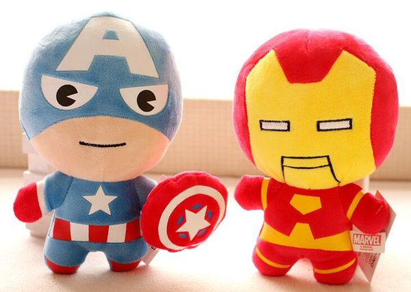kids The avengers Plush dolls toy toy spiderman toys super heroes avengers Alliance marvel the avengers dolls 2Q version Free Shipping
