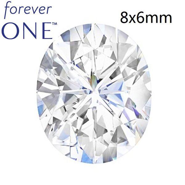 1.5CT quilates, incoloro, corte ovalado, VS DEF certificado por color, Charles Colvard Forever One, piedras sueltas Moissanite sueltas con certificado