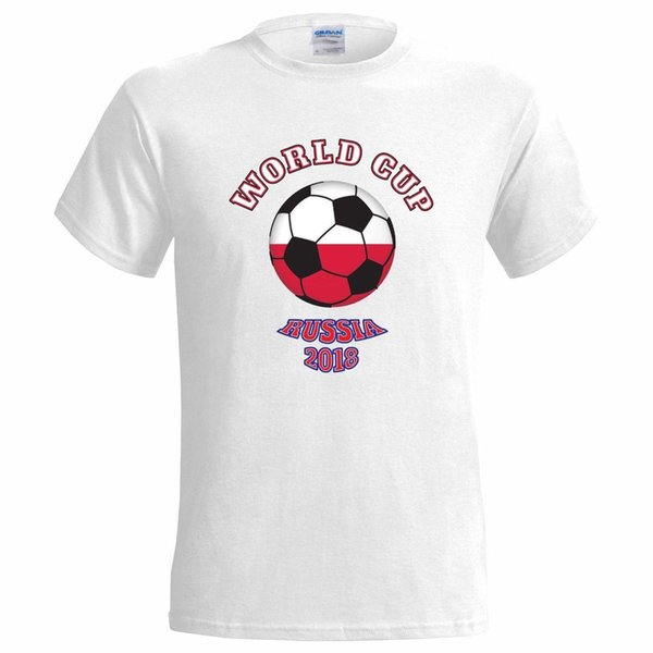 KIDS Boys Girls Russia 2018 Football Top Personalised Poland Polska T shirt!!
