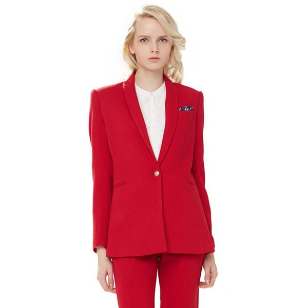 New casual solid color suit two-piece suit (jacket + pants) women's business office official professional wear support customization