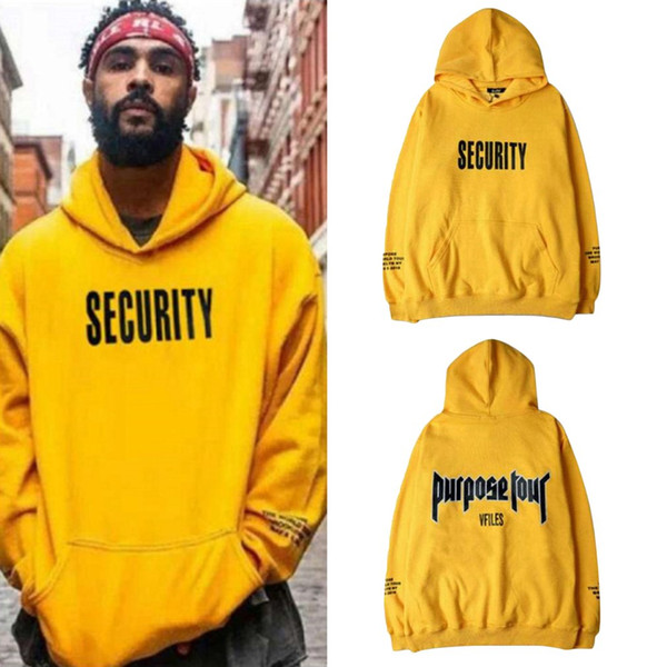 Autumn Men Thick Hoodie Sweatshirt Streetwear Hip Male Casual Tracksuit Long Sleeve Yellow Hooded Pullovers 2018 New