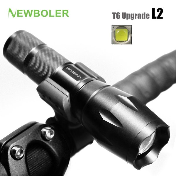 NEWBOLER Bicycle Light 5 Mode XM-L2 LED Bike Light Front Torch + Holder Waterproof 3800 Lumens Led Rechargeable Flashlights USB Y1892709