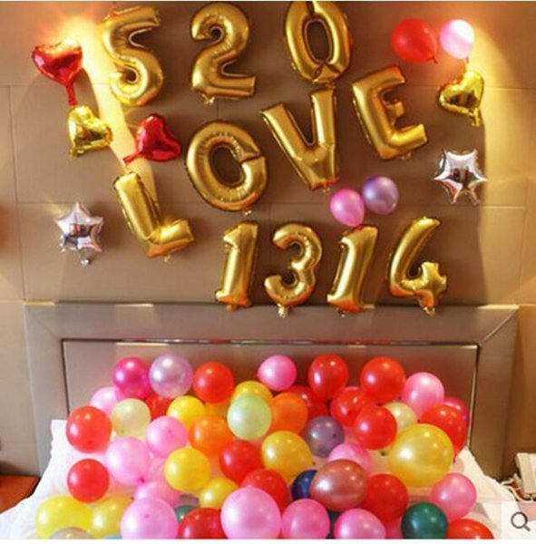40inch 0-9 Number balloons Toys for Wedding Birthday Christmas Party Decoration Fashion Hot Foil Balloon 50Pcs=1Number=1Bag
