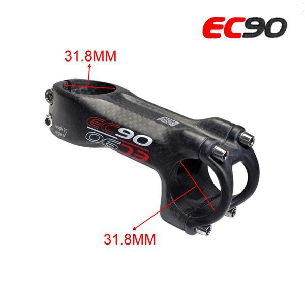 EC90 fibra de carbono Road bicicleta tallo ciclismo MTB bicicleta piezas manillar tallos carbono 31.8mm longitud de la horquilla 70 80 90 100 110 120mm ángulo 6