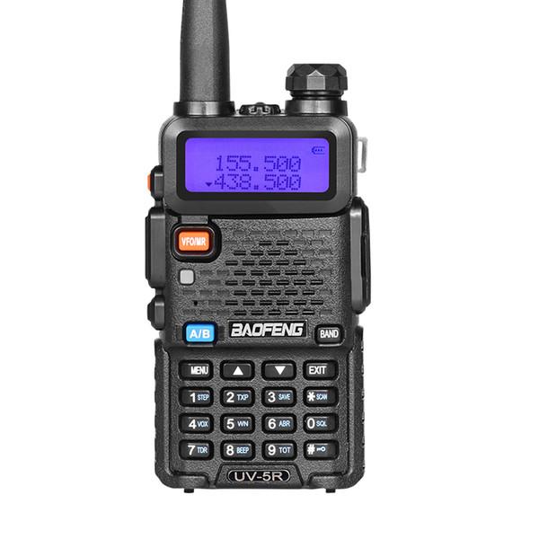 2 pçs / lote melhor vender boa qualidade baofeng uv-5r walkie talkie / rádio em dois sentidos uv 136-174 / 400-520 mhz uv5r 5 w poder 128ch para mineração
