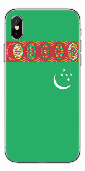 [TongTrade] Luxury Coloured Painting Case For iPhone X 8 7 6s 5s Plus Turkmenistan Flag Soft Silicone TPU Galaxy S9 S8 S7 S6 Edge Plus Case