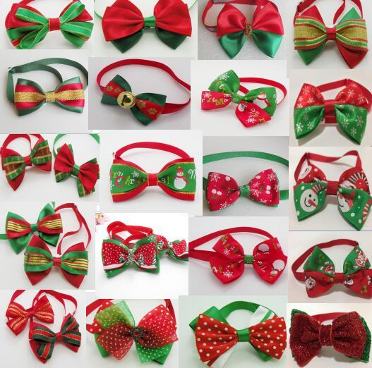 1090pcs/lot Holiday Pet Puppy Dog Cat Bow Ties Cute Neckties Collar Accessories Grooming Supplies