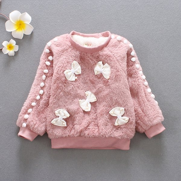 Girls Sweaters Long Sleeve Clothes Christmas Sweater Kids For Children Fashion Bow Coat Wholesale
