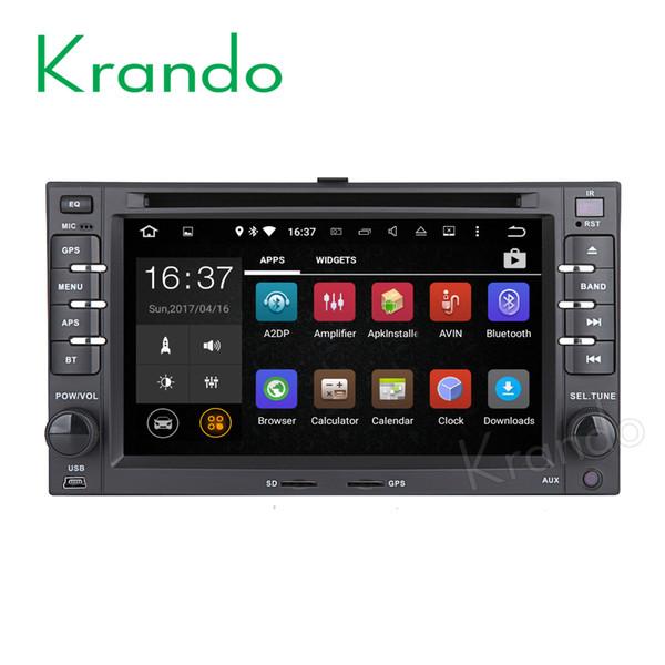 "Krando 6.2"" Android 7.1 car dvd gps navigation multimedia system for Kia rio rondo cerato ceed sportage radio player bluetooth"