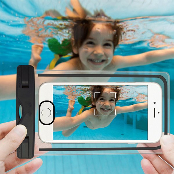 Waterproof Case Universal For iphone 7 6 6s plus samsung S9 S7 Cell Phone Water proof Dry Bag for smart phone up to 5.8 inch diagonal Retail