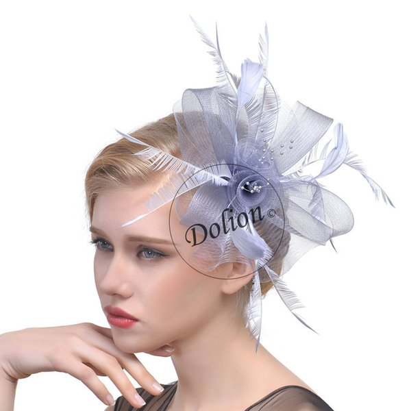 European and American New style net gauze bridal headdress hair decoration pictorial feather net hat wedding veil headdress msm-003