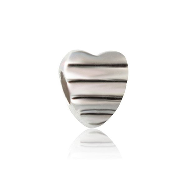 Sweet Heart Love Within Alloy Charm Bead Big Hole Fashion Women Jewelry European Style For Pandora Bracelet Necklace