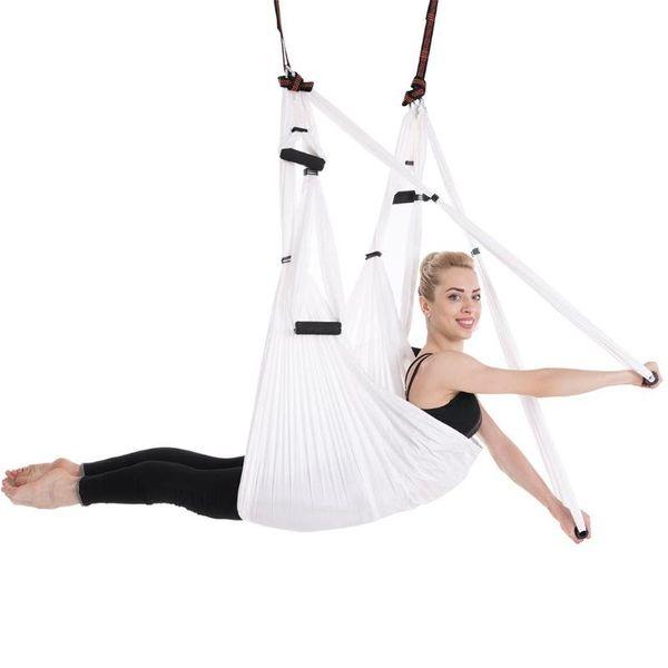 White Fly Aerial Anti-Gravity tela de paracaídas de alta resistencia Yoga hamaca dispositivo de tracción Hanging Swing Belt