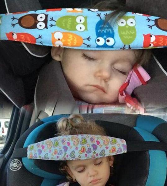 Colorful baby Sleep belt infant safety head Sleep Holder Belt Fixing Band Strap Baby Carriage Protective Belt kid356 200pcs