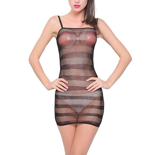 Femminile Erotico Costumi sexy Lingerie Net camicia da notte Nightdress Nightwear Cavallo vestito donne Intimates