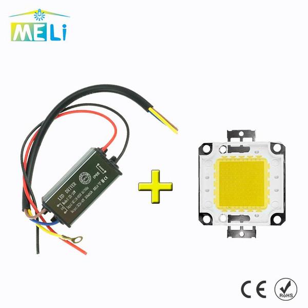 Lamp Chip With LED Dirver 10W 20W 30W 50W 100W LED Integrated Chip 220V 240V IP65 Smart IC AC180-265V For DIY LED Flood