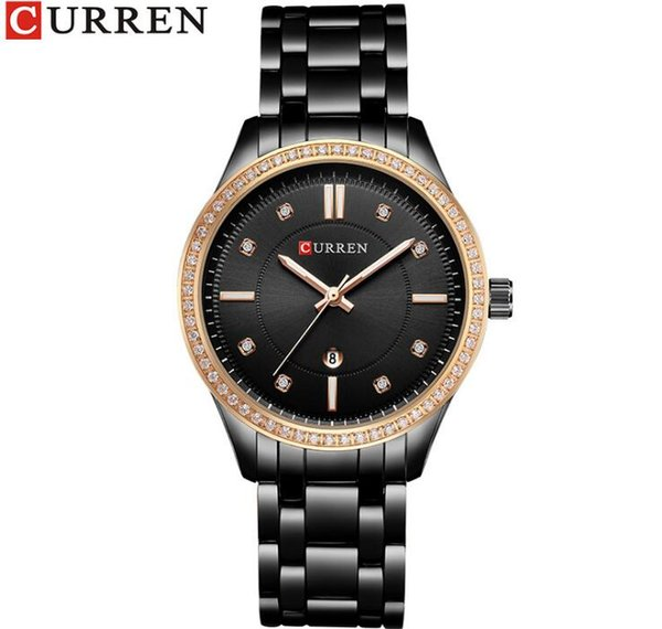 Compre CURREN 9010 Reloj Original De Las Mujeres De Moda Casual Relojes De Pulsera De Cuarzo Regalo De Las Señoras De Cristal A Prueba De Agua Fecha