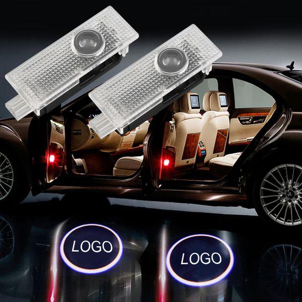 2pcs porte de voiture bienvenue lumière laser porte de voiture ombre projecteur logo lumière LED pour AUDI A3 b6 b8 A5 A6 c5 A7 A8 R8 Q5 Q7