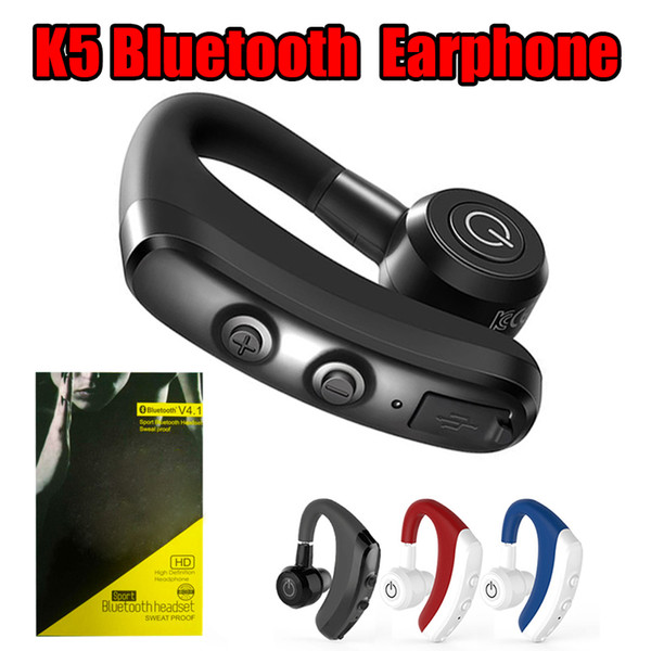 Qualität k5 drahtloser Bluetooth Kopfhörer CSR 4.1 Geschäft Stereo drahtlose Kopfhörer Ohrhörer Kopfhörer mit Mikrofon Sprachsteuerung mit Paket