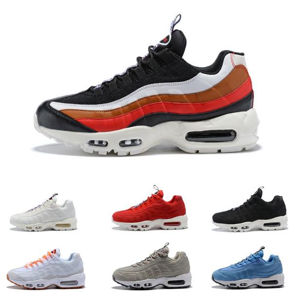 2019 Erkek 95 OG Yastık Donanma Spor Yüksek Kaliteli Shoes 95 s Yürüyüş Botları Erkekler rahat Ayakkabılar 95 Sneakers Boyutu 36-45