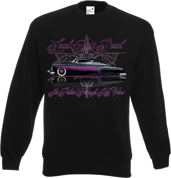 Sweatshirt in schwarz mit einem Hot Rod-,US Car /& `50 Stylemotiv Modell Full