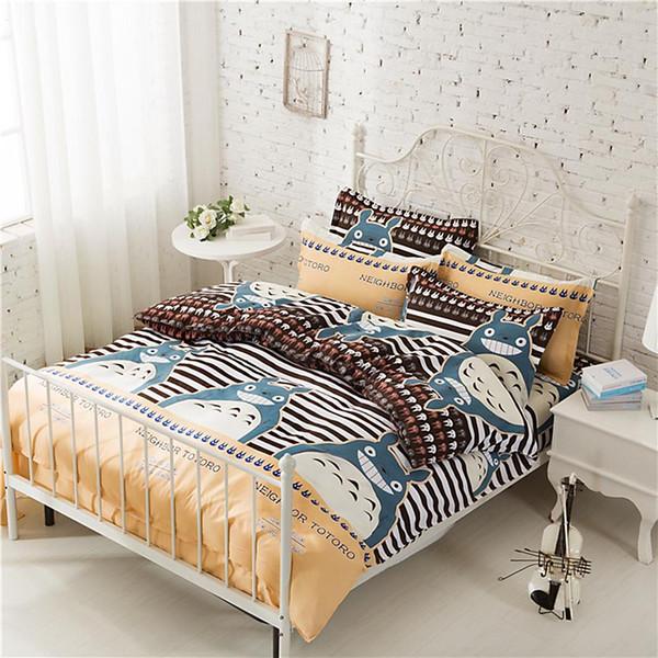Großhandel 4 Stücke Bettwäsche Sets Bettbezug Quilt Totoro