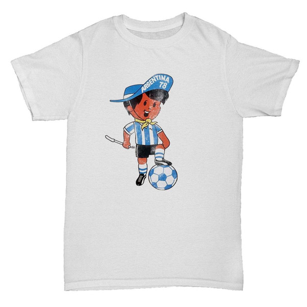 ARGENTINA 78 INSPIRED WORLD CUP FOOTBALL SOCCER RETRO CULT MENS FANS T Shirt
