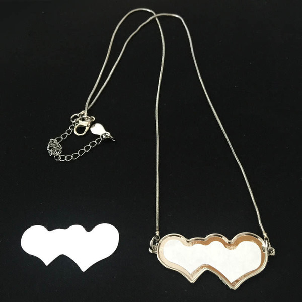heart blank metal necklaces pendants for sublimation necklace pendant jewelry for heat transfer DIY blank consumables wholesales