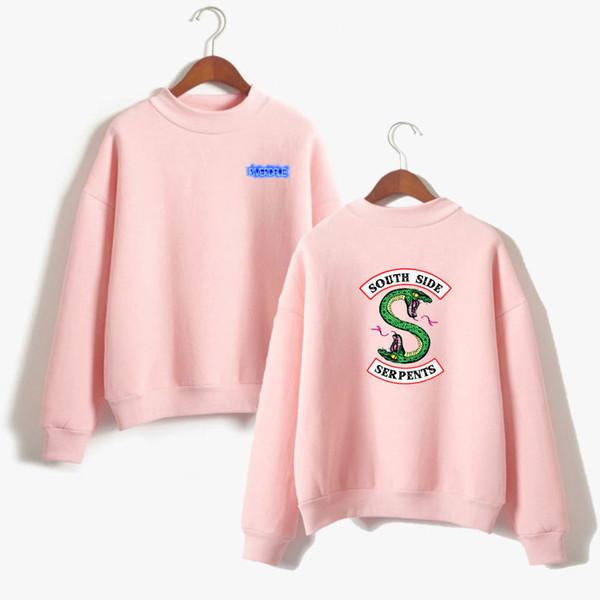 BTS Riverdale Pink Women and men Hoodies Sweatshirts Fashion Hooded Mulheres Long Sleeve Korean Sweatshirt Casual Clothing XXS S929