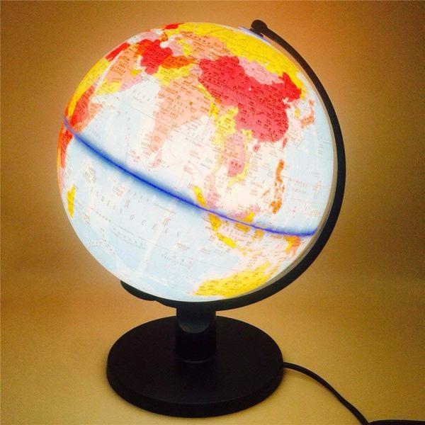 LED Table Desk Lamp World Globe Map Book Night Light Earth Ball Lighting Gift for Kids Study Learning Home Office Education