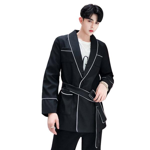 Slim Homme Para Desinger Fit Casual Hombre Costume De Acheter Ceinture Manteau Blazer Hommes Avec Classique Veste Régulier QCsthrdx