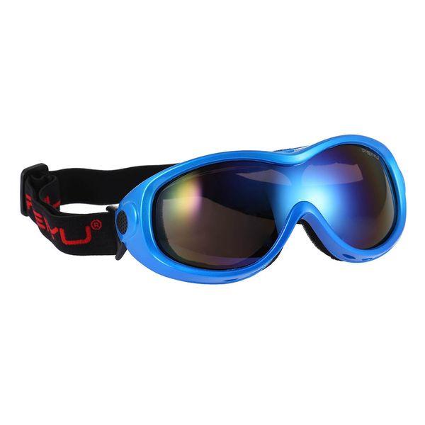 Occhiali antiappannamento monoposto Occhiali da sci per adulti Occhiali per sport all'aria aperta antiscivolo e antiurto Vieni con un panno e una borsa per la pulizia
