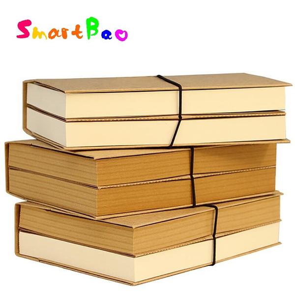 19*13cm Vintage Cowhide Paper Notebook Blank Diary Book Kraft Copybook Original Notebook 240 sheets(480 Page)