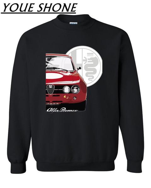 Alfa Romeo Sweatshirts Men cotton Fleece jersey Unique able Car Fans Pullover Coat Men's Fitness Basic Sportwear couple Clothing